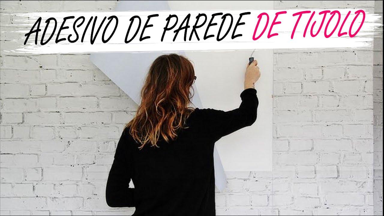 Artesanato Garrafa Pet Pascoa ~ Adesivo de Parede #papeldecor Tijolo Branco #UP13 YouTube