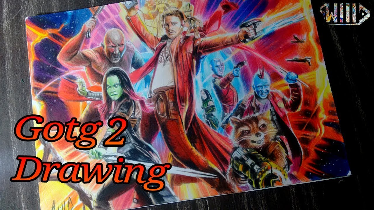 Drawing - Guardians of the galaxy 2
