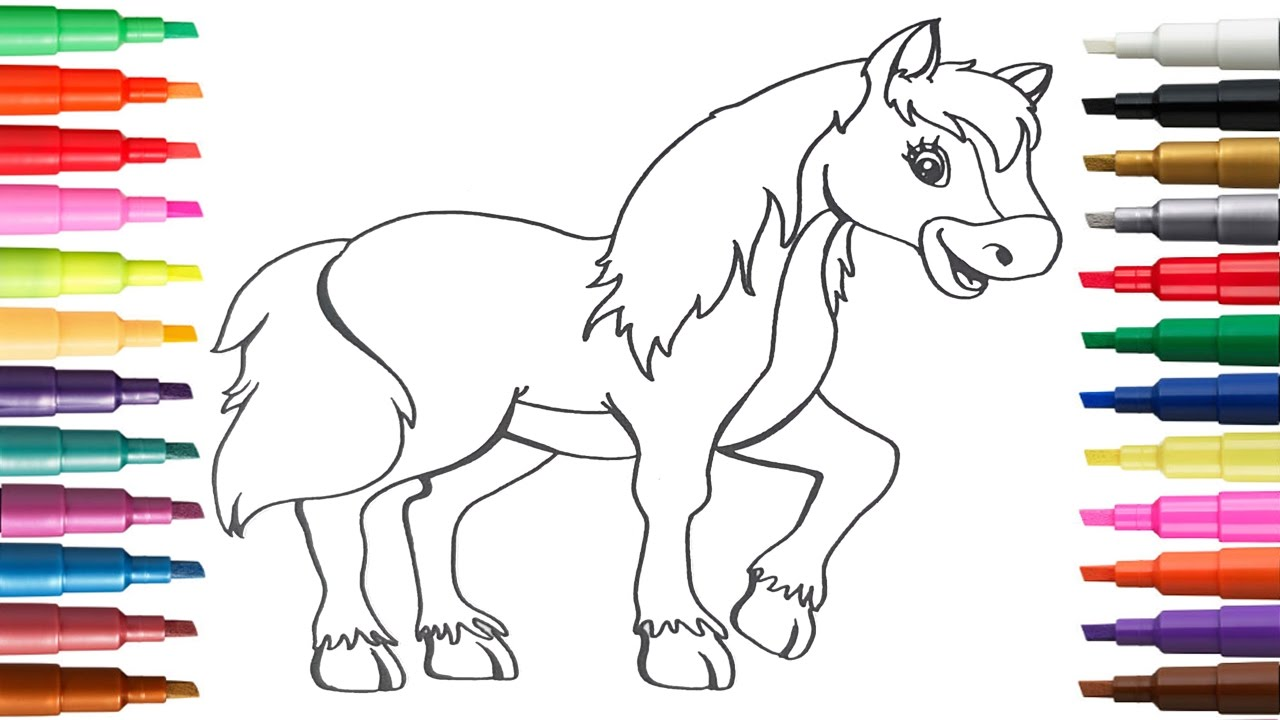 Learn Coloring Pony And Lion Pages