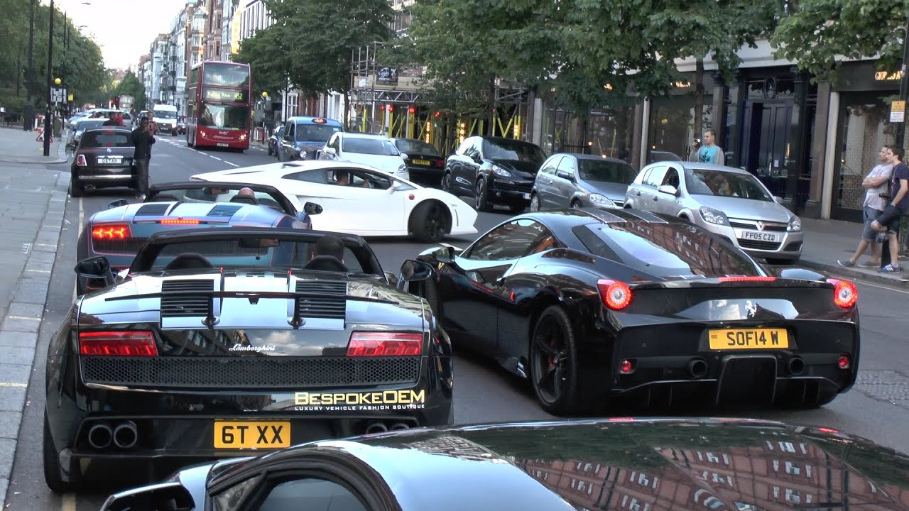 Supercars In London Sloane Street In The Summer Youtube