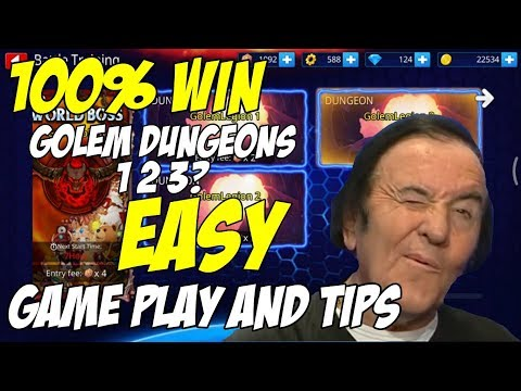 GunboundM 100% WIN Golem Dungeons 1 2 3 | Game Play And Tips!