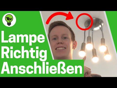 Lampe Anschliessen Top Anleitung Wie Deckenleuchte Montieren Deckenlampe Anbringen Aufhangen Youtube