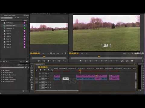 Aspect ratios in Adobe Premiere Pro CC