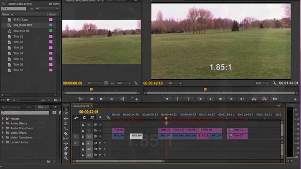 Aspect ratios in Adobe Premiere Pro CC - YouTube