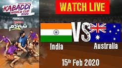 Kabaddi World Cup 2020 Live - India vs Australia - 15 Feb - 1st Semi Final | BSports