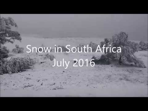 Snowing in South Africa