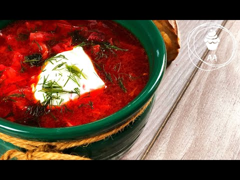 BEST Russian Beet Soup (BORSH) Recipe From Greatgrandma (no Talking), БОРЩ рецепт от ПраПраБабушки