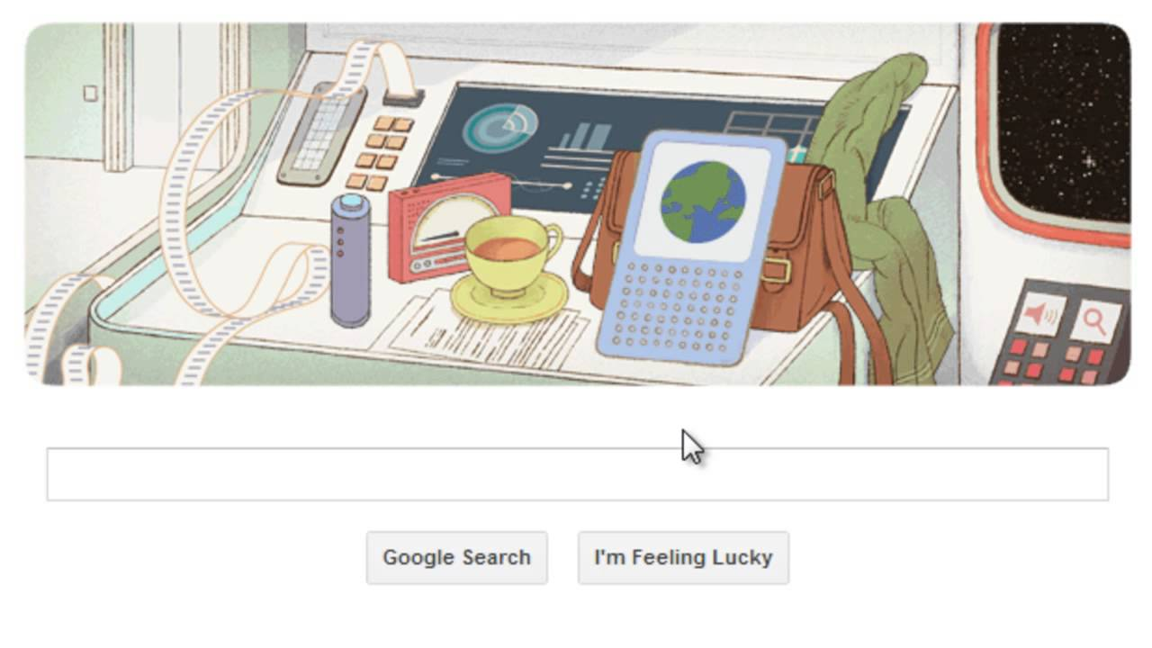 Douglas Adams Google logo (Doodle) - The Hitchhiker's Guide to the Galaxy
