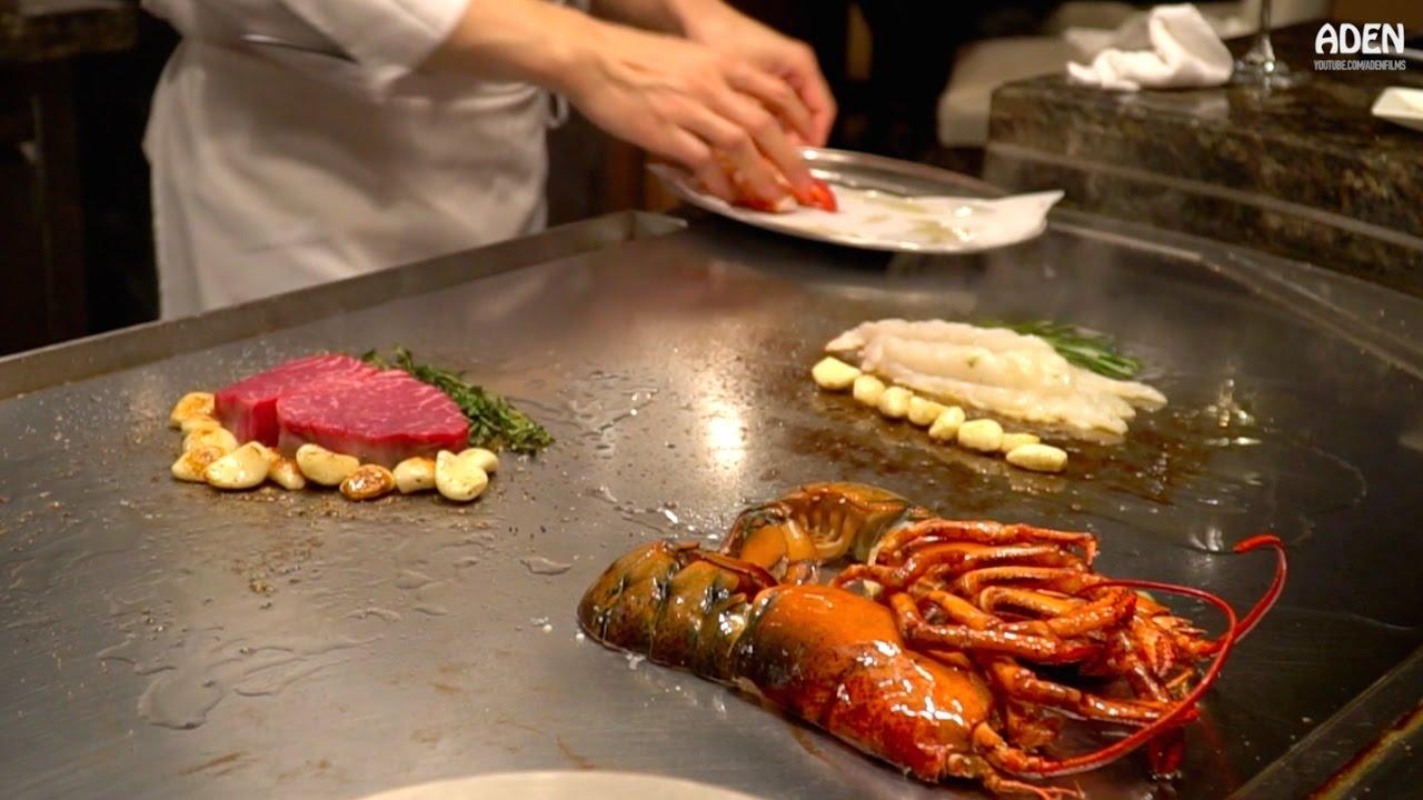 Lobster & Steak Teppanyaki - Gourmet Food in Las Vegas - YouTube