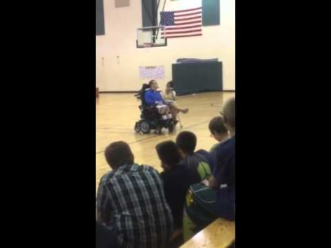 Mason Metzger speaking at North Webster Elementary School part 2