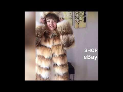 Fur coat red gold fur fox. Fur jacket. Shop furs eBay. Fourrure luxury fur style. Furlover.
