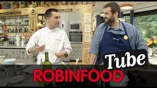 ROBINFOOD / Risotto de setas y erizo de mar + Sardinas encebolladas con pasas y piñones