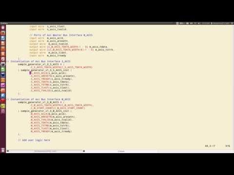 ZYNQ Training -  Session 07 Part II - AXI Stream Interfaces (RTL Flow)