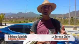 Video Review Volunteer Adriano Gabriele in La Serena CHILE Teaching program