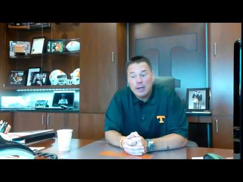 Butch Jones talks about recovering from his father's death