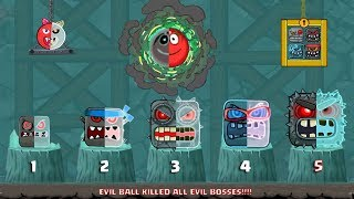 RED BALL 4 - ALL 5 EVIL BOSSES killed Together by