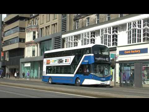 EDINBURGH BUSES 4th MAY 2021 BY DAVE SPENCER OF PMP FILMS COVID LEVEL 3 SCOTLAND