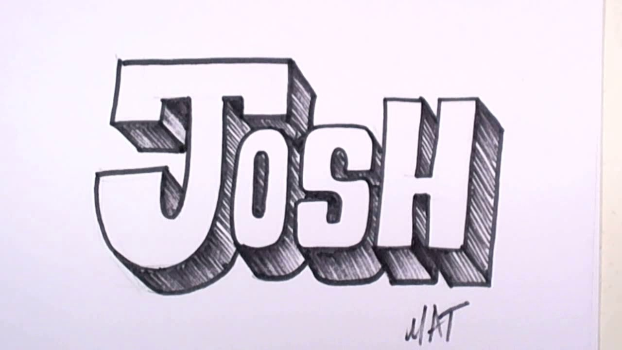 Graffiti Writing Josh Name Design 31 In 50 Names Promotion Mat