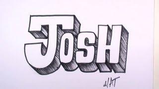 Download Video Graffiti Writing Josh Name Design #31 in 50 Names Promotion | MAT MP3 3GP MP4