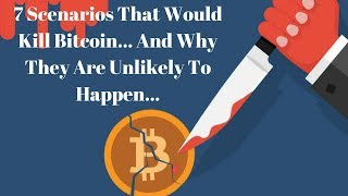 7 Scenarios That Could Potentially Kill Bitcoin And Why They Are Unlikely To Ever Happen