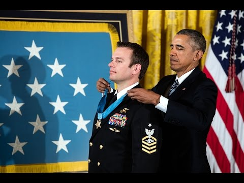 The President Presents the Medal of Honor to U.S. Navy Senior Chief Edward Byers, Jr.