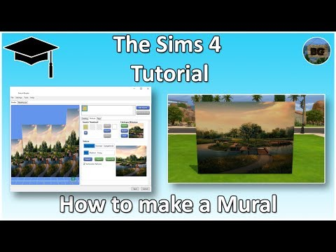 The Sims 4 Tutorial: How to make a Mural / Multiple Tile Wallpaper