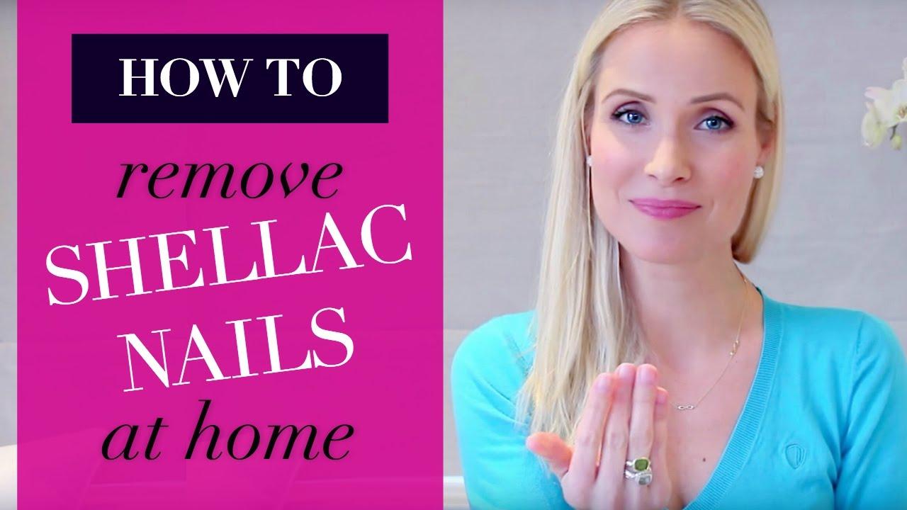 Remove Shellac Nail Polish At Home 2 Ways Beauty Diy Youtube