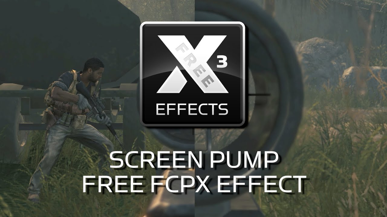 Free XEffects Screen Pump Plugin for Final Cut Pro X