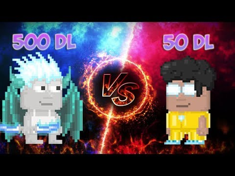 Growtopia   500 DL VS 50 DL SET CHALLENGE!{BRAND NEW SETS}ft.Really