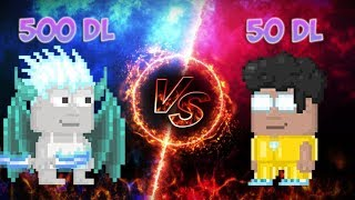 Growtopia | 500 DL VS 50 DL SET CHALLENGE!{BRAND NEW SETS}ft.Really
