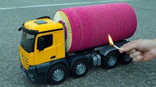 Download lagu 🌋🚀 Amazing 50,000 Matches Powered Jet Truck