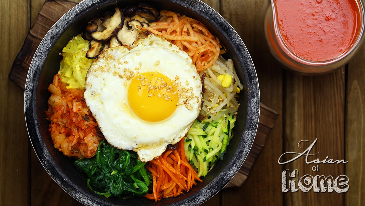 Dolsot Bibimbap Korean Stone Pot Bibimbap Youtube