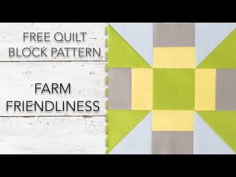 FREE Quilt Block Pattern: Farm Friendliness