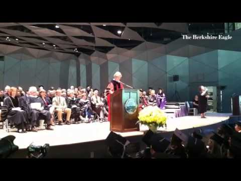 US Sen. Elizabeth Warren speaks at the Berkshire Community College graduation.