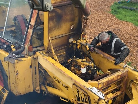 JCB 3C Engine Removal