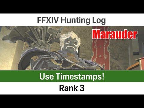 FFXIV Hunting Log Marauder Rank 3 - A Realm Reborn