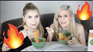 EXTREME SPICY NOODLE CHALLENGE *SO PAINFUL*
