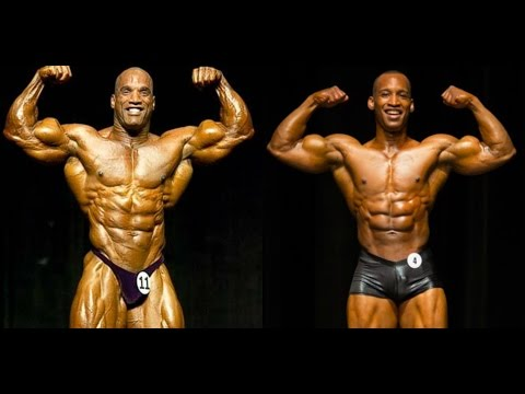 Darrem Charles and his Son Renel bodybuild together