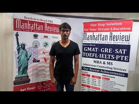 MS Admission Services - Manhattan Student Testimonial   Adithya