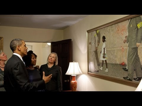 Obama Hangs Racial Painting In White House