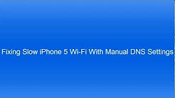 How to fix iPhone 5 Slow WiFi
