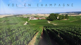 Vol en champagne ( FHD ANAFI Parrot drone )