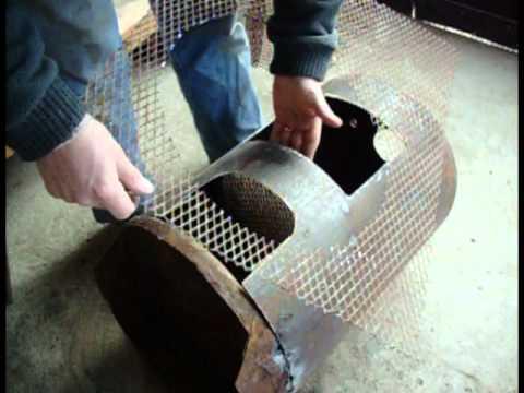 Fabricar una estufa a le a parte youtube - Como hacer una cocina de lena ...