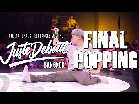 MT POP, ACKY Vs J SMOOTH, CRAZY KYO | FINAL POPPING 2vs2 | JUSTE DEBOUT BANGKOK 2019