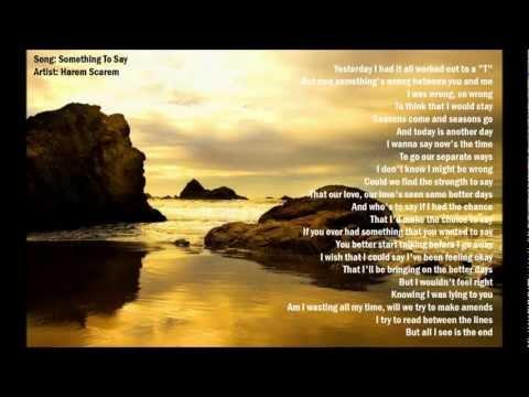 Something To Say - Harem Scarem (with lyrics)