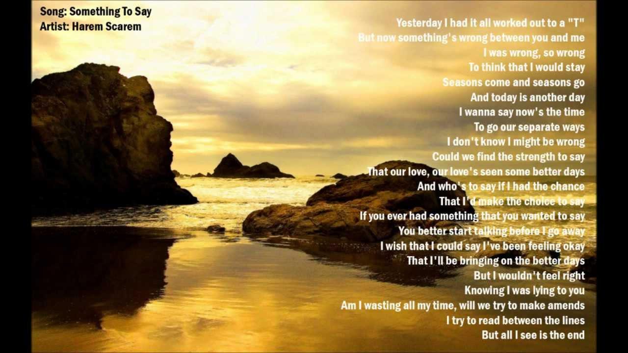 Harem lyrics