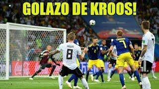Terrible Golazo de Kroos que salva a Alemania contra Suecia! |Gol de Kroos desde todos los  ángulos
