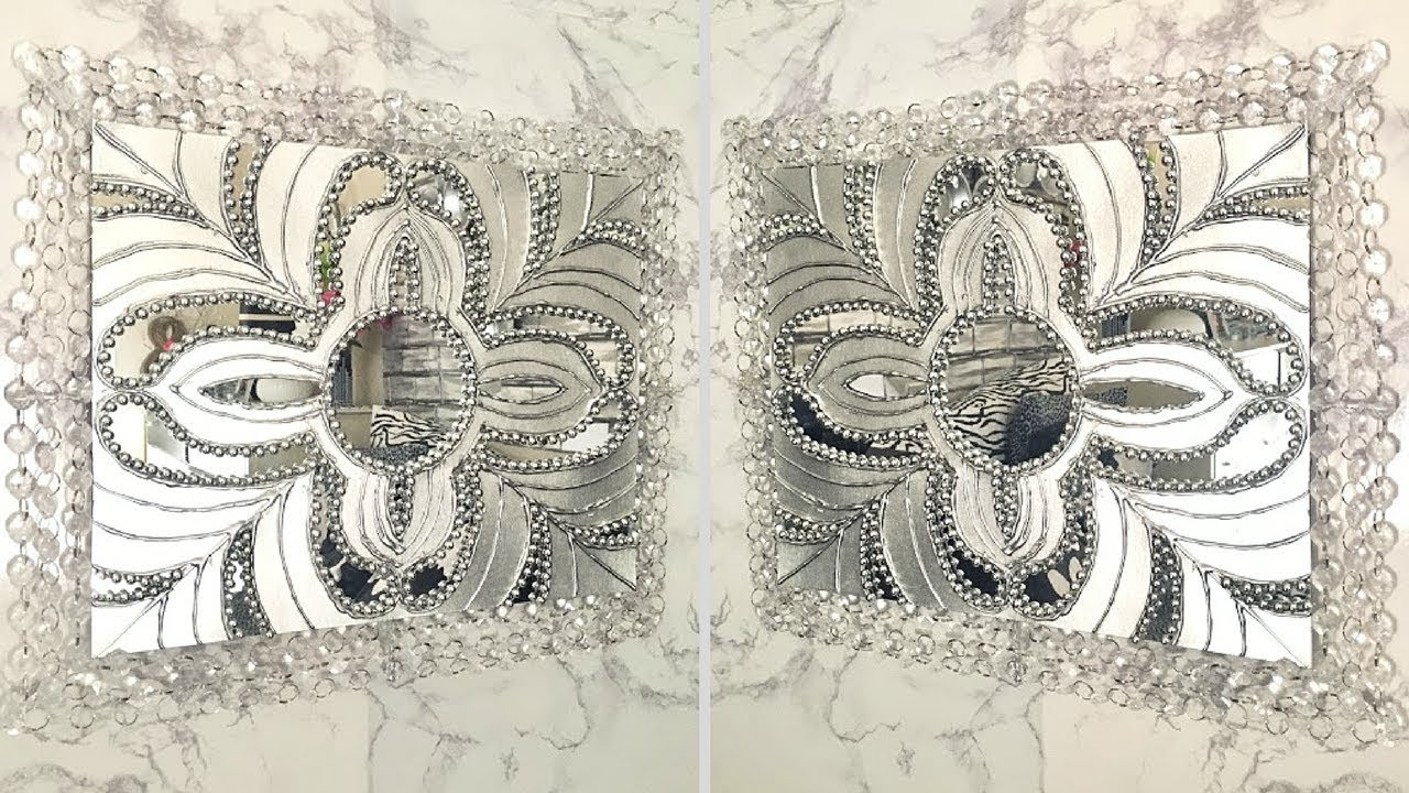 Diy Wall Decor Mirror Art| Home Decorating Idea! - YouTube