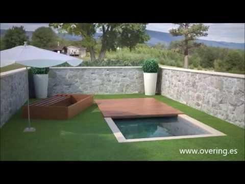 Cubierta de piscina convertible en cama balinesa youtube - Cobertor piscina enrollable ...