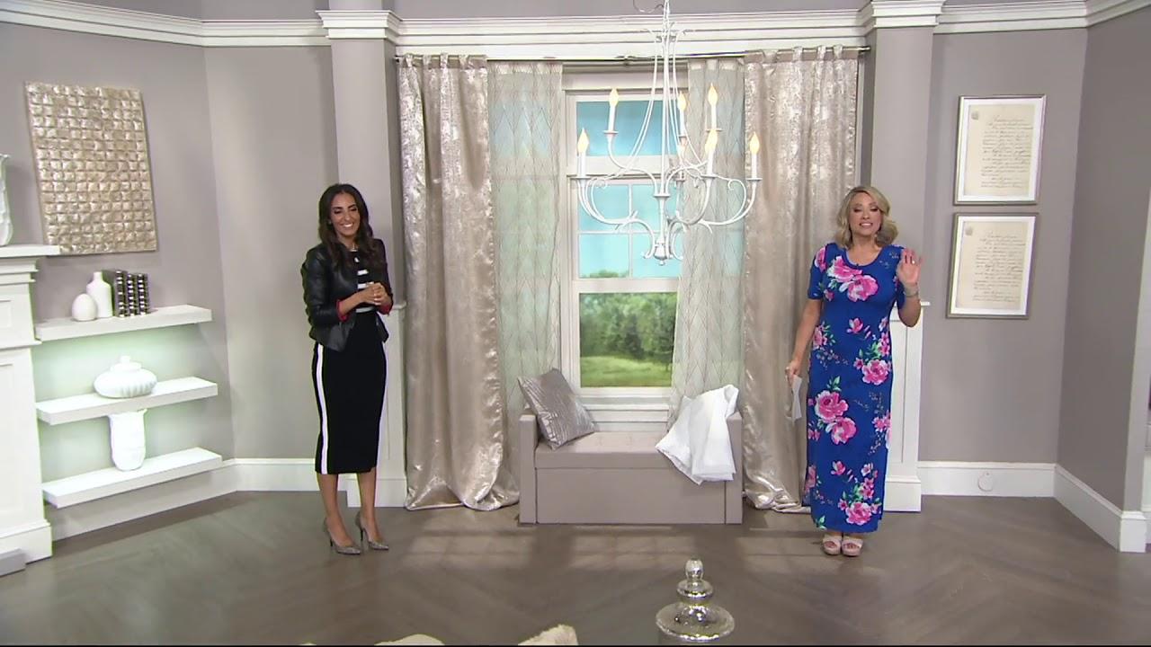Inspire Me Home Decor 4 Piece Ella Window Treatment On Qvc